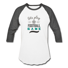 Baseball T-Shirt = Let's Play Football Game - white/charcoal