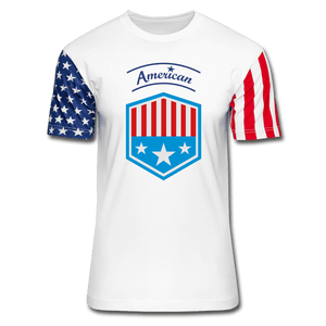Stars & Stripes T-Shirt = American - white