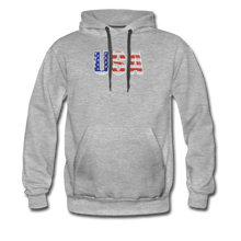Men's Premium Hoodie = usa - heather gray