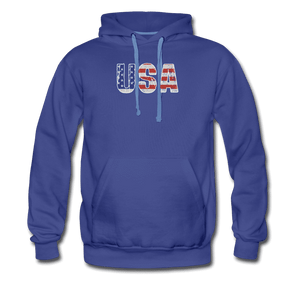 Men's Premium Hoodie = usa - royalblue