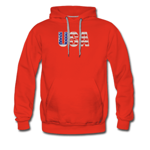 Men's Premium Hoodie = usa - red