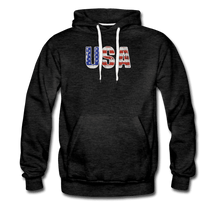 Men's Premium Hoodie = usa - charcoal gray