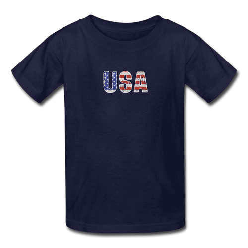 Kids' T-Shirt = usa - navy