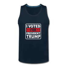 Men's Premium Tank = I VOTED FOR PRESIDENT TRUMP - deep navy