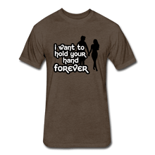 Fitted Cotton/Poly T-Shirt by Next Level = i want to hold your hand forever - heather espresso