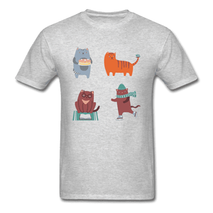 Unisex Classic T-Shirt = 4 cats - heather gray