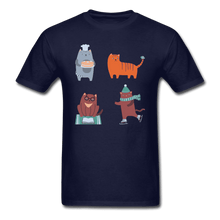 Unisex Classic T-Shirt = 4 cats - navy