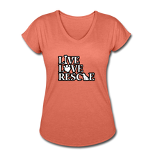 Women's Tri-Blend V-Neck T-Shirt - heather bronze