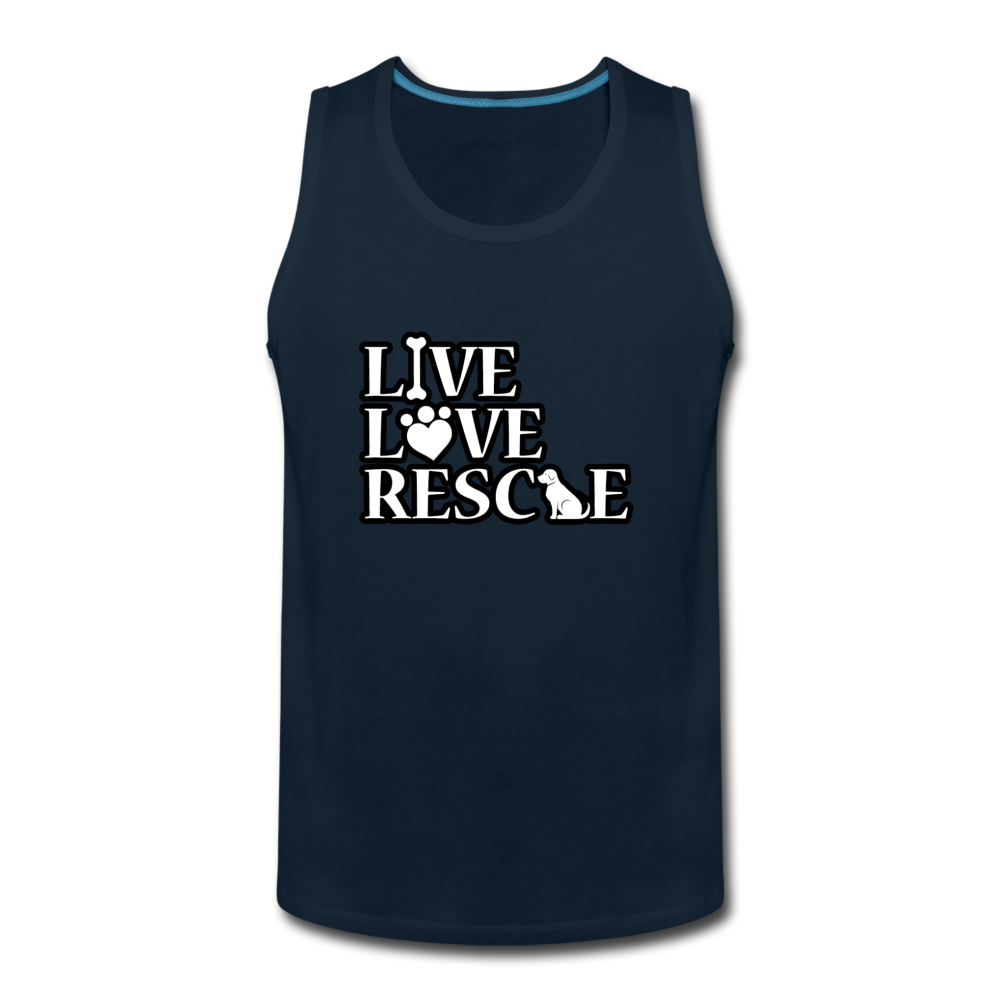 Men's Premium Tank - deep navy