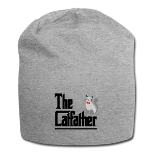 Jersey Beanie = The Catfather - heather gray