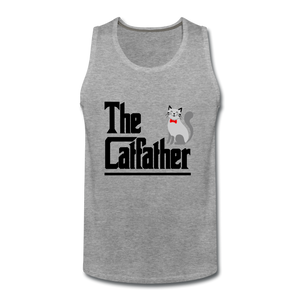 Men's Premium Tank = The Catfather - heather gray