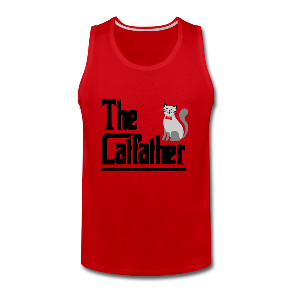 Men's Premium Tank = The Catfather - red