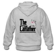 Gildan Heavy Blend Adult Zip Hoodie = The Catfather - heather gray
