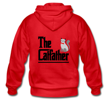 Gildan Heavy Blend Adult Zip Hoodie = The Catfather - red