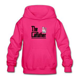 Gildan Heavy Blend Youth Hoodie = The Catfather - fuchsia