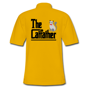 Men's Pique Polo Shirt = The Catfather - Yellow