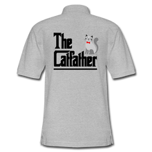 Men's Pique Polo Shirt = The Catfather - heather gray