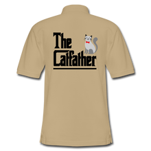 Men's Pique Polo Shirt = The Catfather - beige