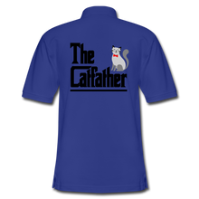 Men's Pique Polo Shirt = The Catfather - royal blue