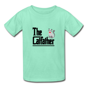 Hanes Youth Tagless T-Shirt = The Catfather - deep mint