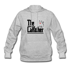 Women's Hoodie = The Catfather - heather gray