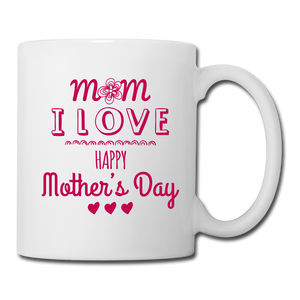 Coffee/Tea Mug Happy Mothers Day - white