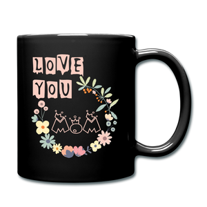 Full Color Mug Love You Mom - black