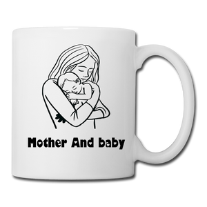 Coffee/Tea Mug Mother And Baby - white