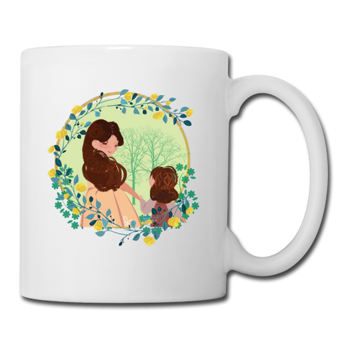 Coffee/Tea Mug Mother With Her Girl - white