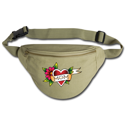 Fanny Pack | Comfort Colors 344 Mom Love - khaki