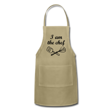 Adjustable Apron I Am The Chef - khaki