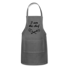 Adjustable Apron I Am The Chef - charcoal