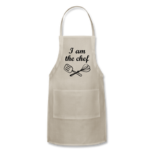 Adjustable Apron I Am The Chef - natural