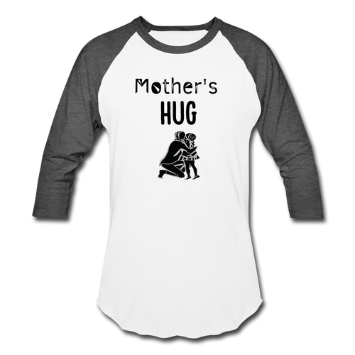Baseball T-Shirt Mothers Hug - white/charcoal