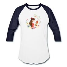 Baseball T-Shirt Mother With Baby - white/navy