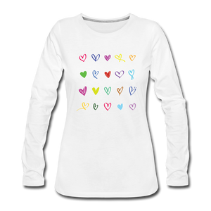 Women's Premium Long Sleeve T-Shirt A  Lot of Love - white