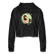 Women's Cropped Hoodie Mother With Girl - deep heather