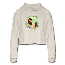 Women's Cropped Hoodie Mother With Girl - dust