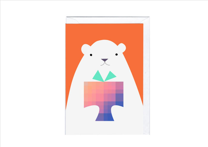 CARD - POLAR BEAR PRESENT