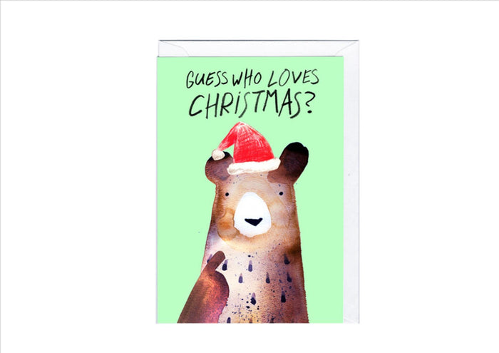 CARD - GUESS WHO LOVES CHRISTMAS