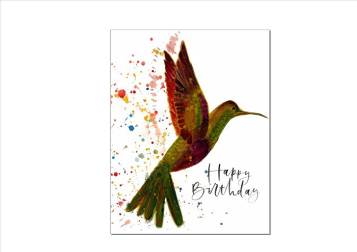 CARD - HUMMINGBIRD (HAPPY BIRTHDAY)