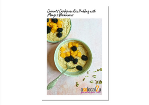 Coconut & Cardamom Rice Pudding with Mango & Blackberries