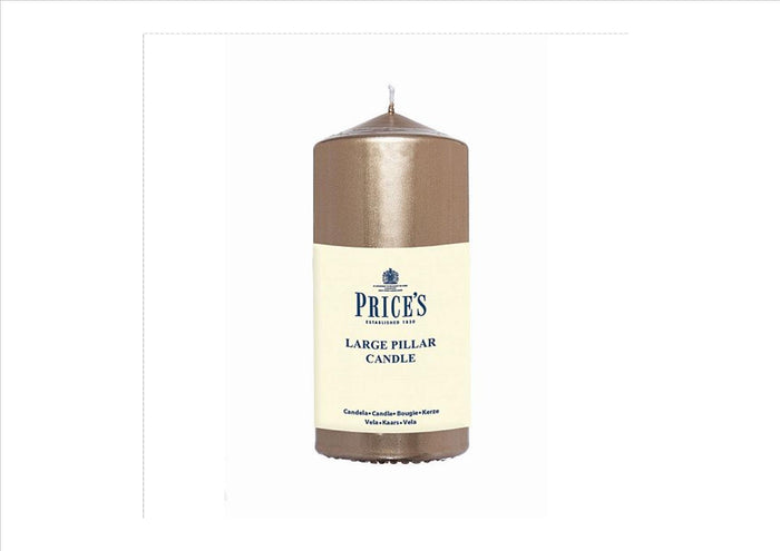 "Price's - 6"" Gold Pillar Candle"