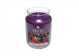 Price's - Mixed Berries Large Candle Jar