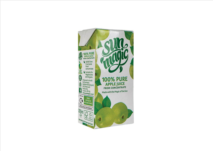 Sunmagic - 100% Pure Apple Juice from Concentrate (24x200ml)
