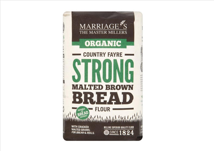 Marriage'S Organic Strong Malted Brown Bread Flour (1Kg)