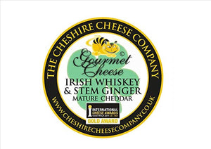 Cheshire Cheese Co - Irish Whiskey & Stem Ginger Cheddar  200g