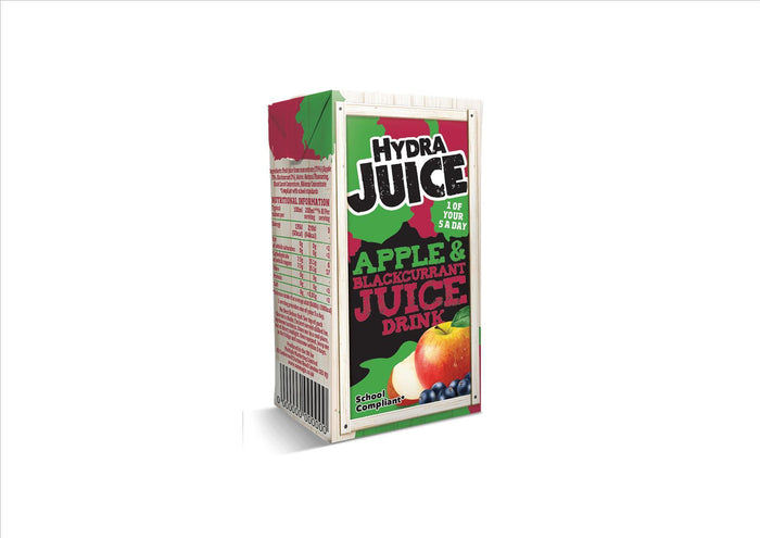 Hydra Juice - Apple and Blackcurrant Juice Drink (24x200ml)