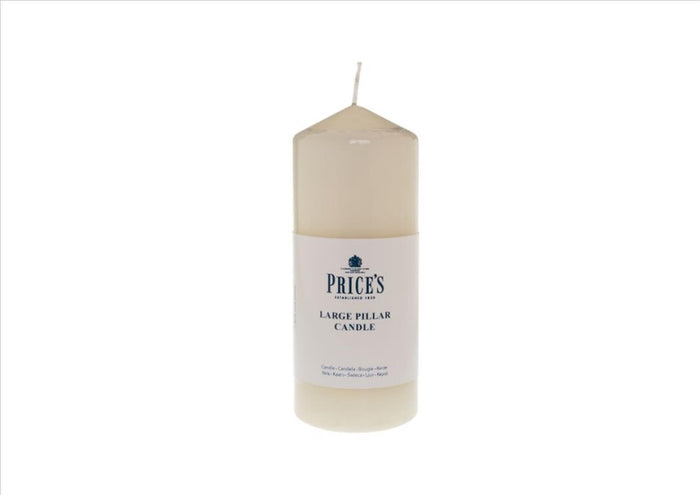 "Price's - 6"" Ivory Pillar Candle"