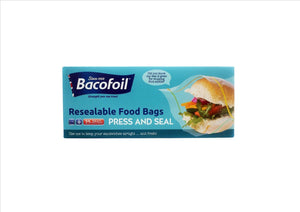 Bacofoil Resealable Food Bags - Press & Seal (25 Small)